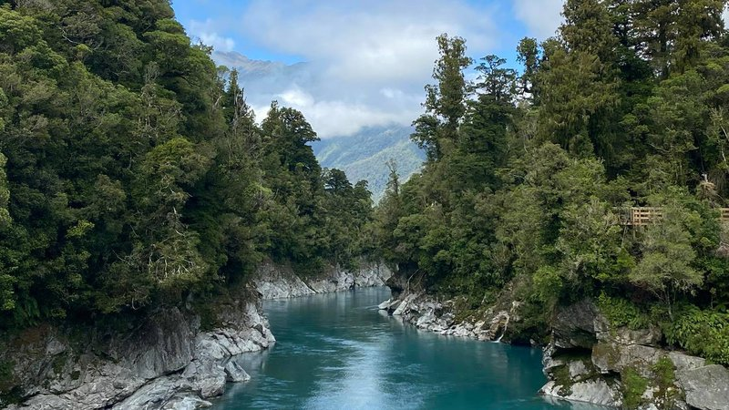 Blue Hokitika Gorge