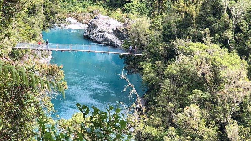 Hokitika Gorge bridge view