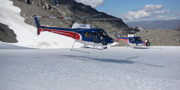 Helicopter line fox glacier