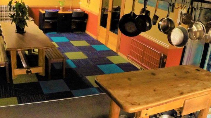 Bazil's Surf Hostel kitchen