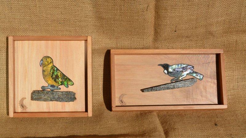 Wooden boxes Kereru Crafts Gallery Blackball