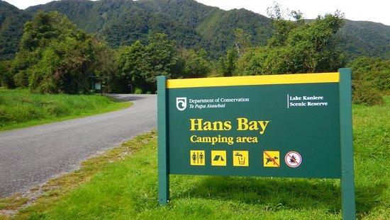 Hans Bay – Lake Kaniere Campsite