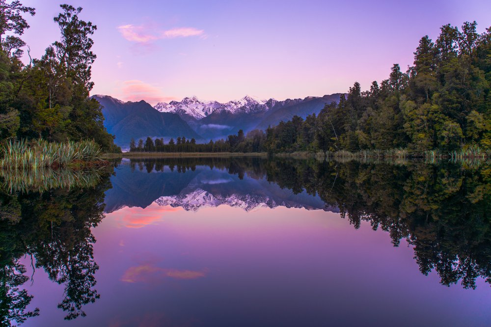 Lake Matheson sunset