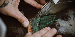 Carving New Zealand jade