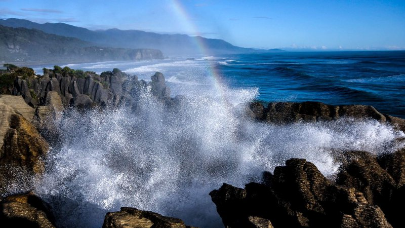 Pancake Rocks and Blowholes Punakaiki