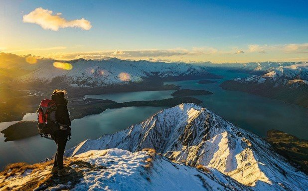 Picture perfect view for sunset from Roys Peak
