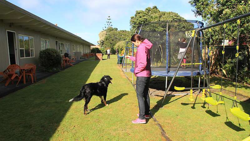 Playground and dog Hokitika accommodation