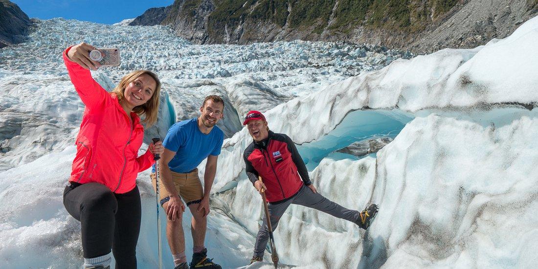 Fox Glacier selfie