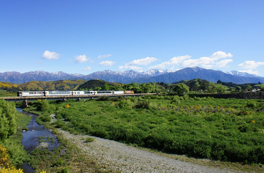 Tranz Alpine on the Kaikoura Coast