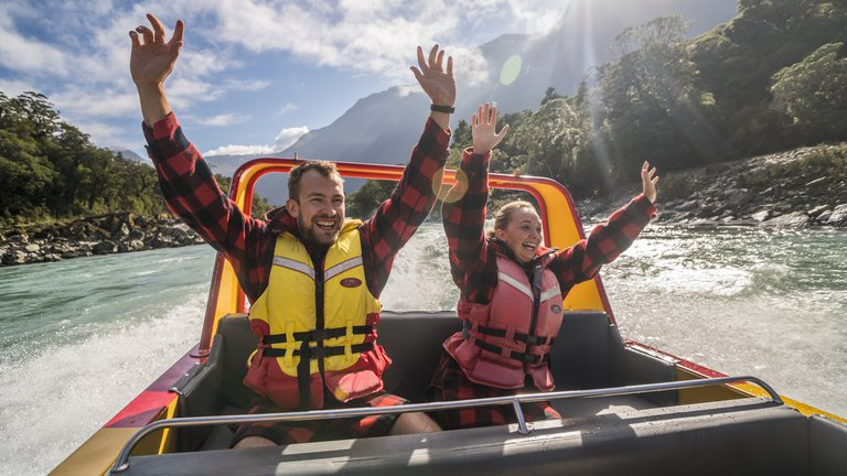 Haast World Heritage Area - Waiatoto River Safari -9540